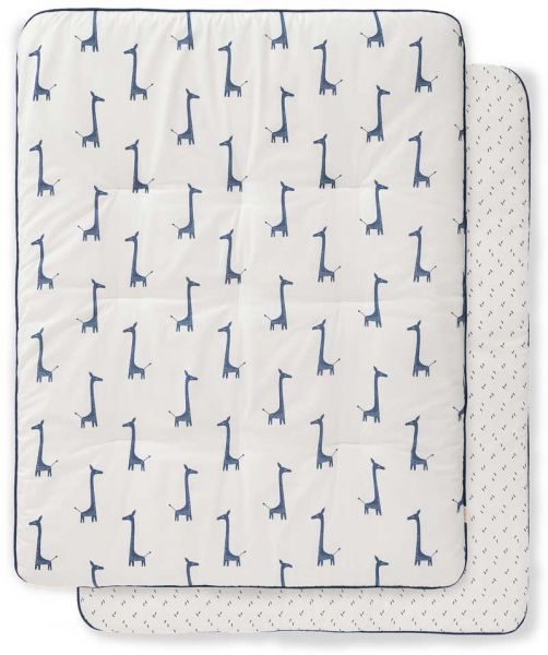 Fresk Krabbeldecke Laufgittereinlage Giraf Indigo Blue
