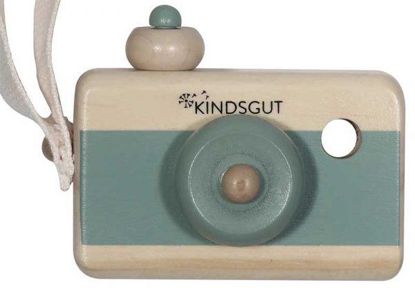 Kindsgut Holz-Kamera Aquamarin