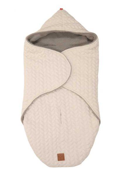 Kaiser Einschlagdecke Wrappy für Babies beige