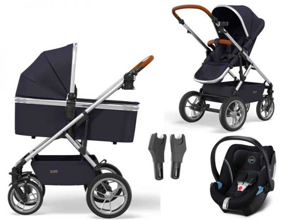 Moon Nuova stroller set 3-in-1 with Cybex Aton 5 baby car seat - 2021