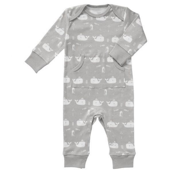 Fresk Baby Bio Strampler Wal grau