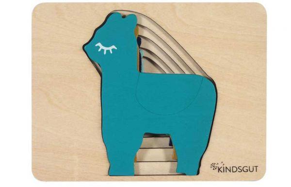 Kindsgut Holzpuzzle Lama