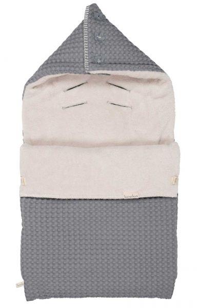 Koeka Winterfußsack Babyschale Steel grey