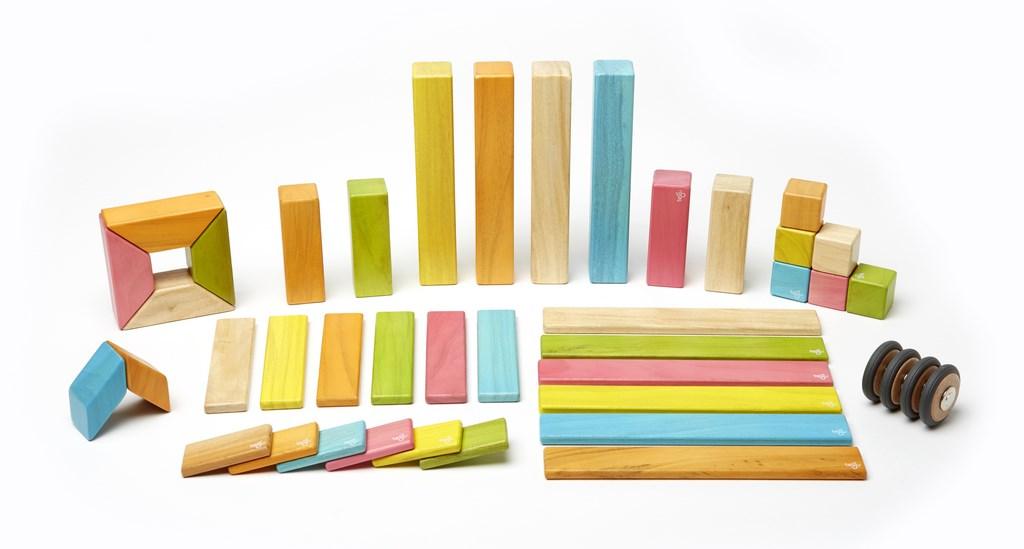 Tegu Magnetic Blocks 42 Piece Set Tints Buy Online