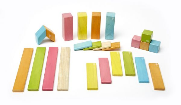 24 piece set magnetic building blocks by tegu
