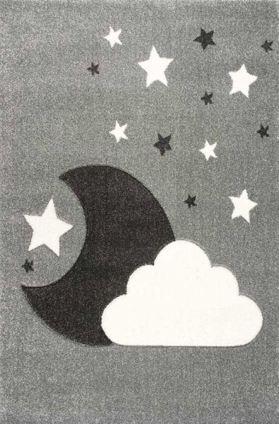 Scandic Living Kinderteppich Wolke/ Mond silbergrau