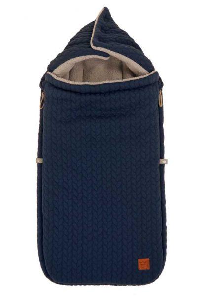 Kaiser Fußsack Knitty für Kinderwagen navy warm und weich