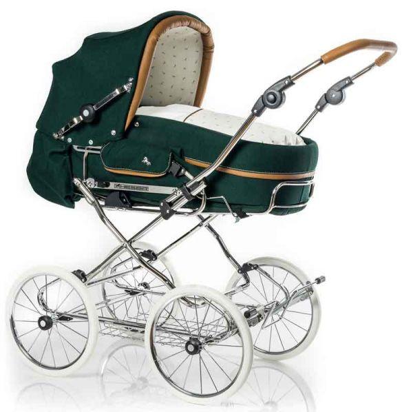 Hesba Corrado Kinderwagen mit Ledergriff