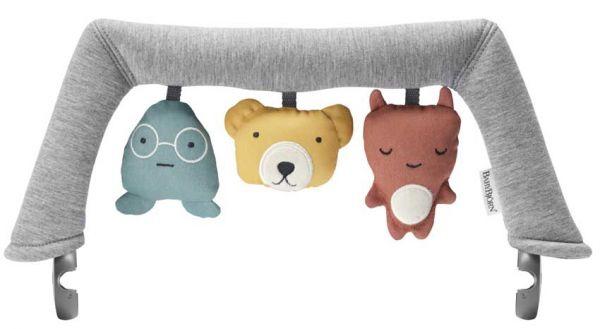 Baby Björn Spielzeug Weiche Freunde für Babywippe