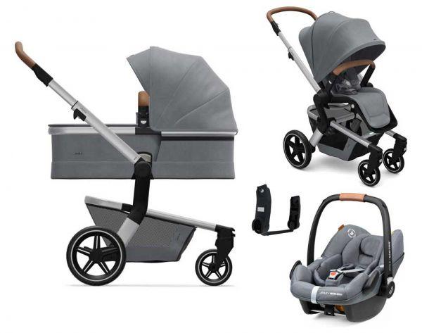 Joolz Hub+ 3in1 Kinderwagen Set mit Joolz Babyschale grau