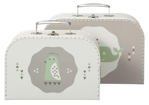 Fresk Spielzeugkoffer Set Whale grau für Jungs