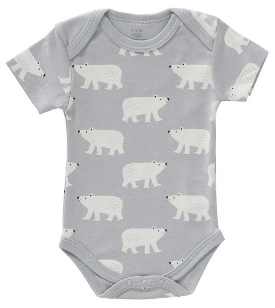 Fresk Baby Body Kurzarm Eisbär