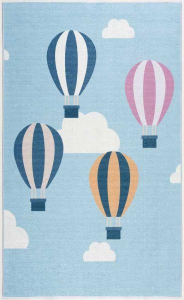 Scandic Living Luftballons hellblau/multi print
