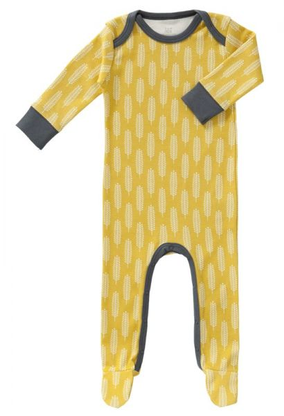 Fresk Baby Bio Strampler mit Füßen Havre vintage yellow FF154