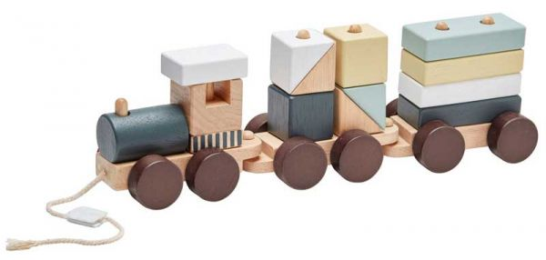 Kids Concept Zug mit Holzklötzen Edvin