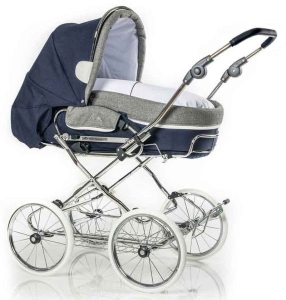 Hesba Condor Coupe pram with leather details