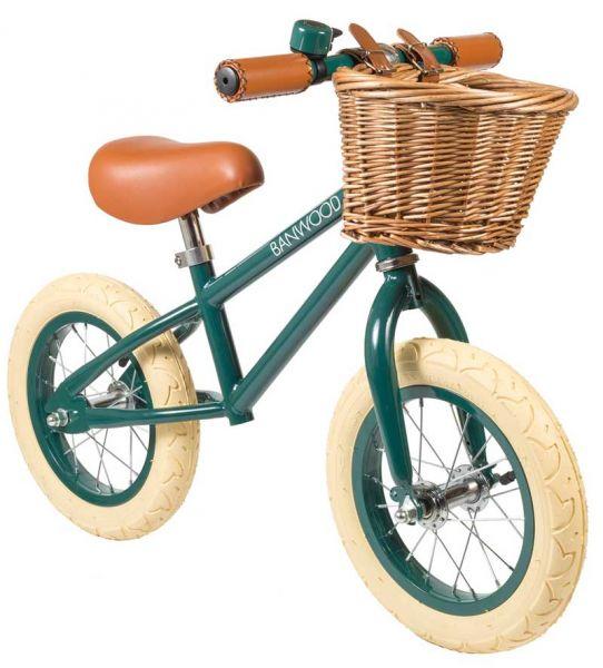 Grünes retro Laufrad