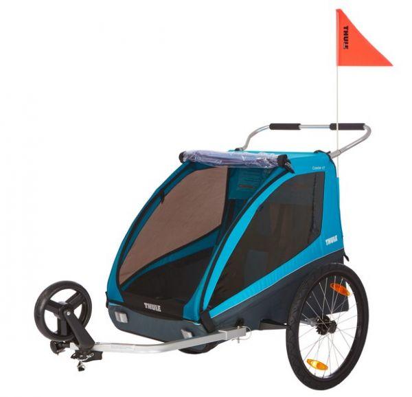 Thule Coaster XT Fahrradanhänger Kinderanhänger Blau
