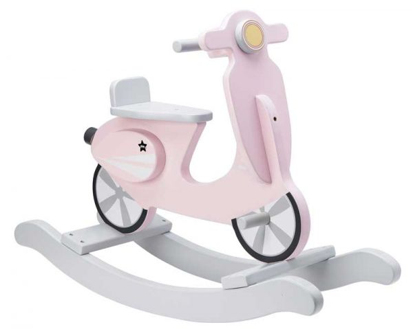 Kids Concept Schaukel-Scooter rosa/weiß