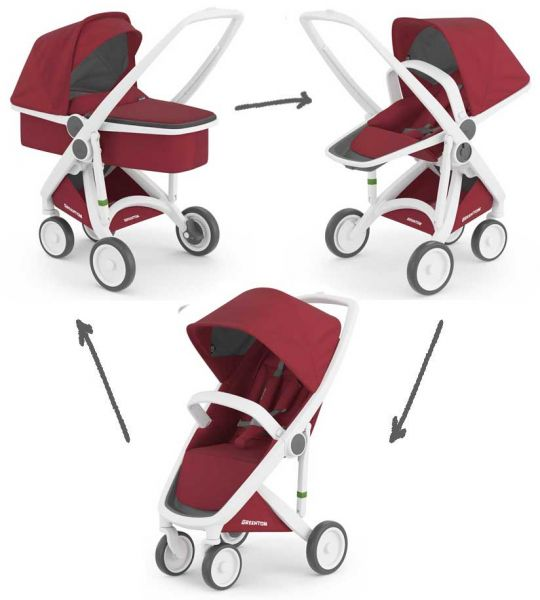 Greentom 3-in-1 Classic & Reversible incl. Carrycot