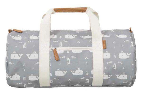 Fresk Kinder Reisetasche Wal grau