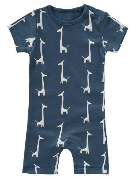Fresk Strampler kurzarm Giraffe blau