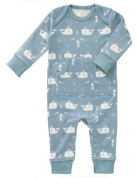 Fresk Baby Bio Strampler Wal blau