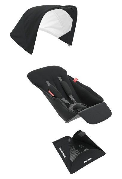 Greentom Upp Textilset Reversible Sitz Black