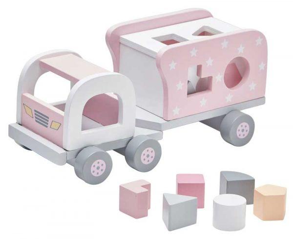 Kids Concept Steckspiel Laster rosa