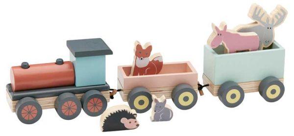 Kids Concept Zug mit Waldtieren Edvin