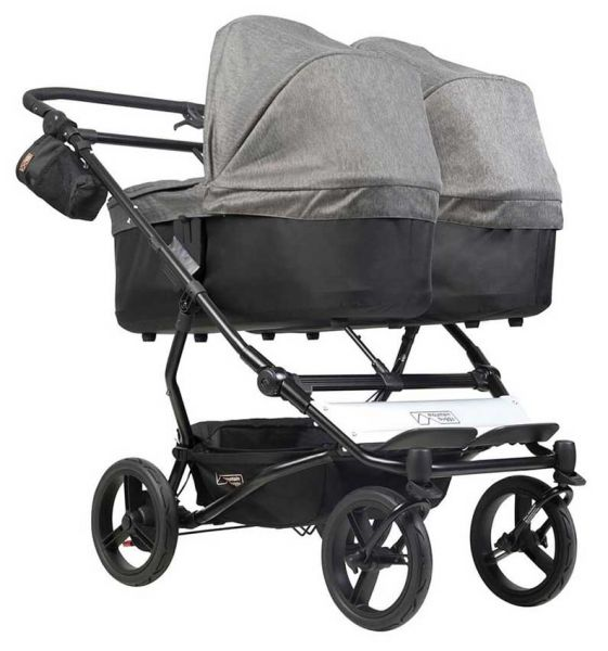 Mountain Buggy Duet V3 twin stroller with 2 carrycot plus