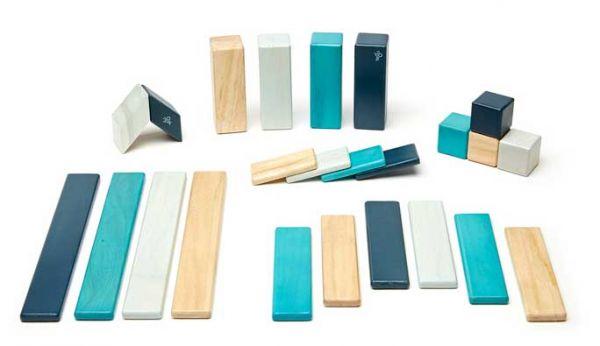 Tegu Magnetbausteine 24-teilig blau