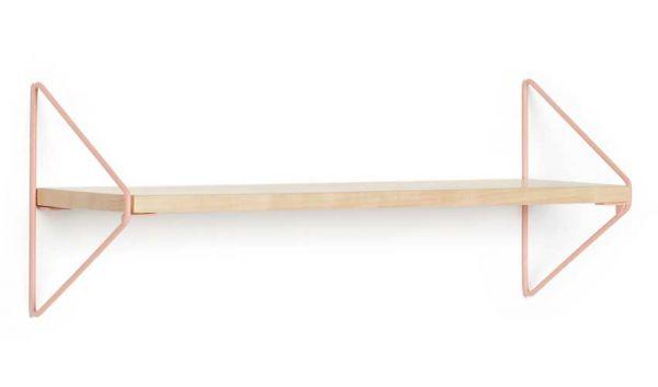 Wandregal Holz Metall apricot